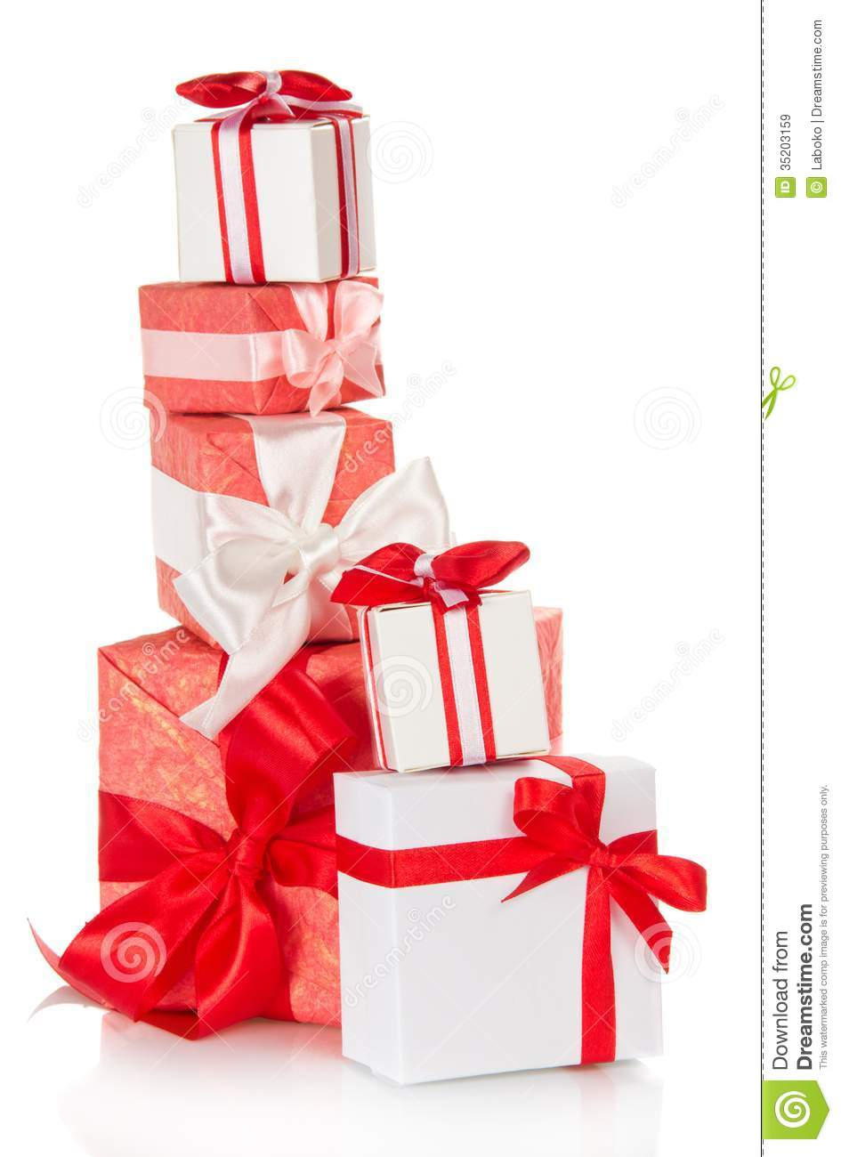 The Tower Of Gift Boxes Royalty Free Stock Images Image