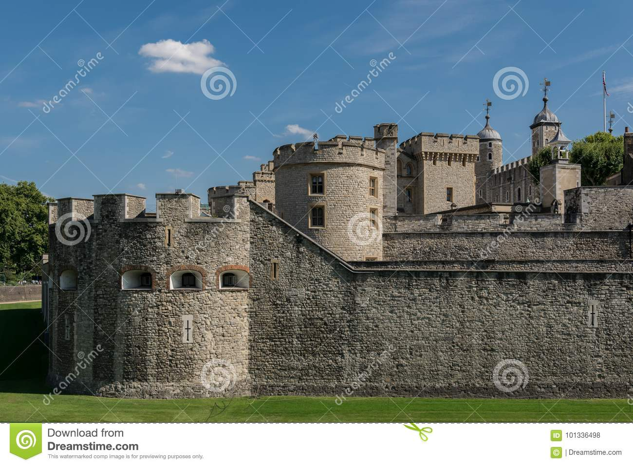 Tower of London stock photo  Image of historic, citadel - 101336498