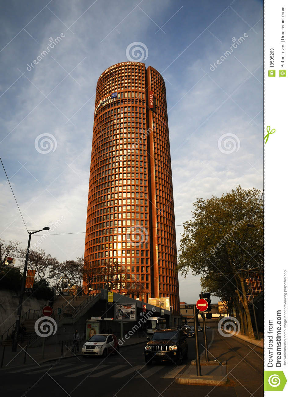 Tower in lyon part dieu editorial stock image image 18505269 - Office tourisme lyon part dieu ...