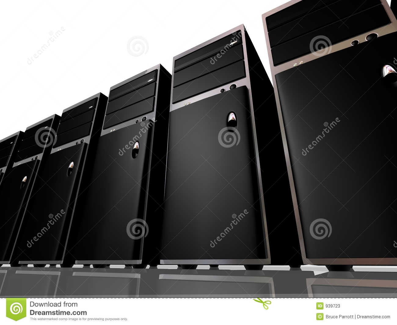 Tower Model Computers Or Servers Stock Photos Image 939723