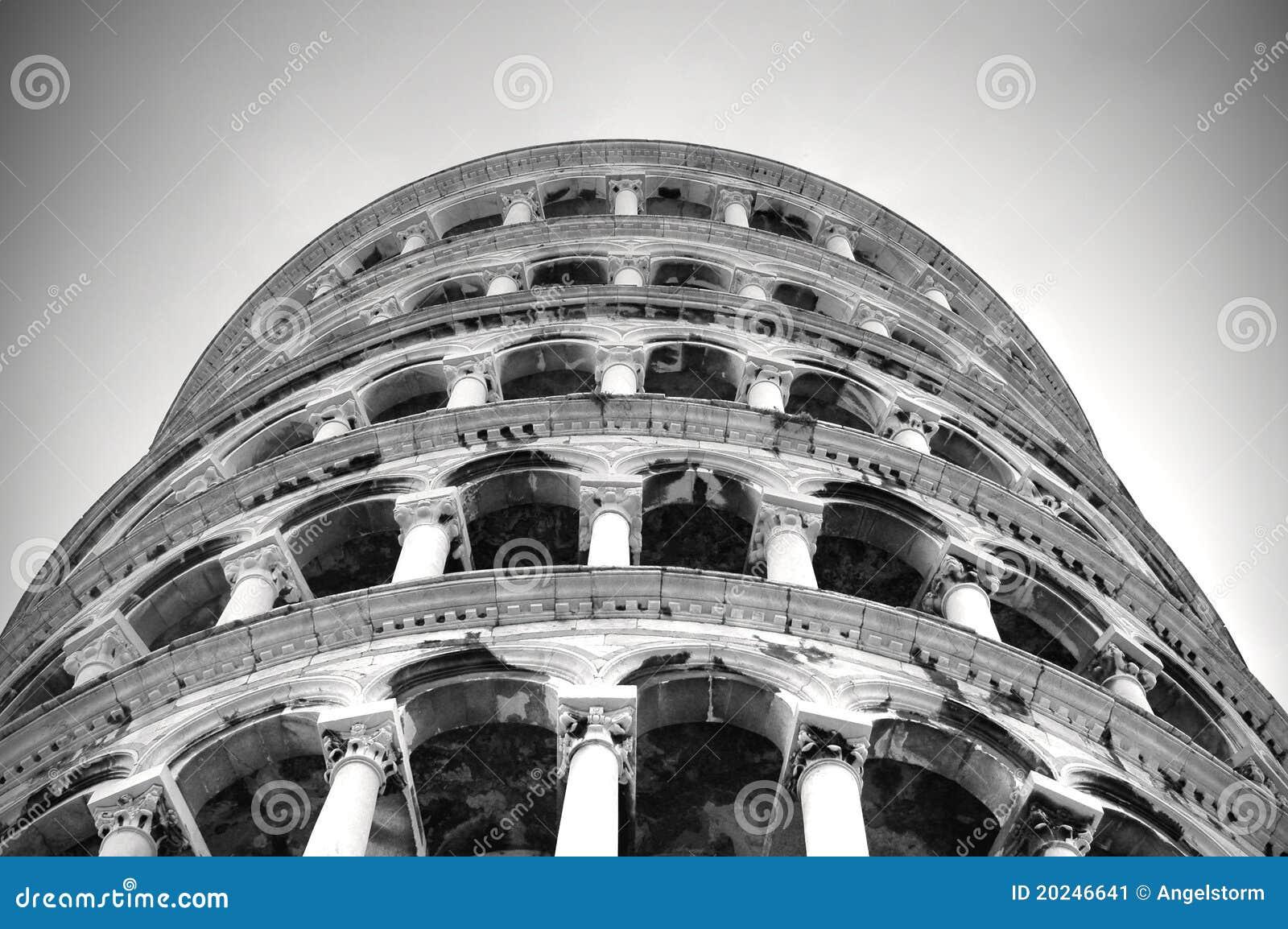 Tower of pisa against diving