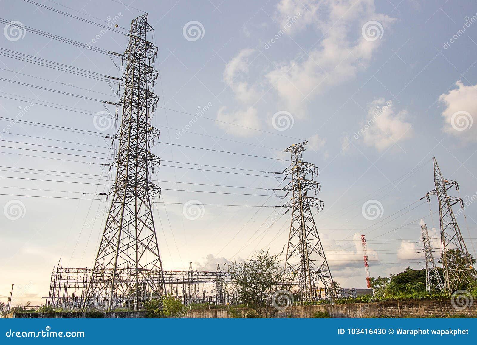 Tower Power Electronics Stock Photo Image Of Background 103416430