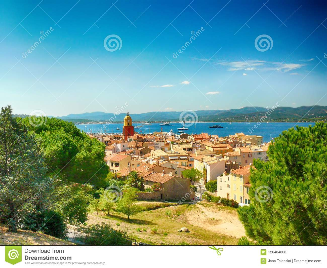 Tower in Saint Tropez in France