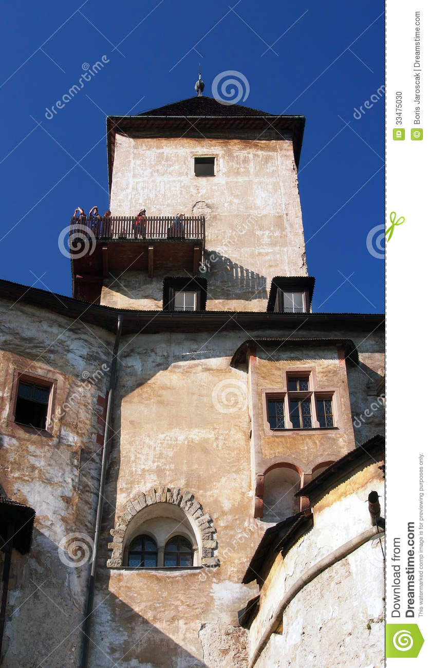 Tower and sightseeing deck at Orava Castle