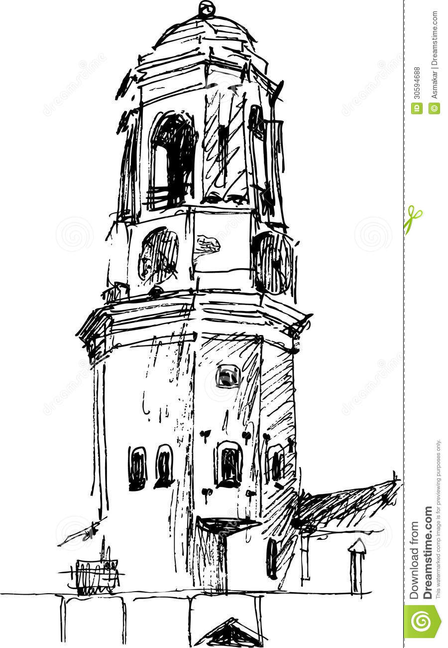 tower sketch stock photo  image of drawing  fortress