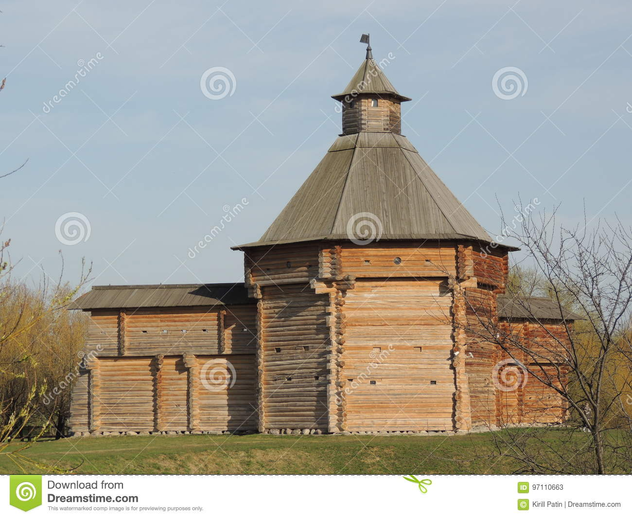 Tower from the Sumskoy Ostrog Fortress Stock Image - Image of monasteryntower, russia: 97110663