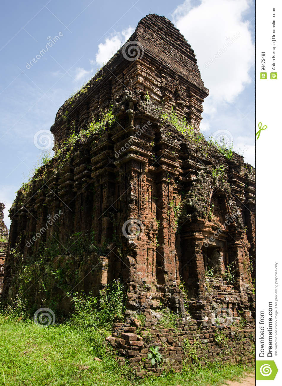 Myson Temple Vietnam stock image  Image of creepers, blue