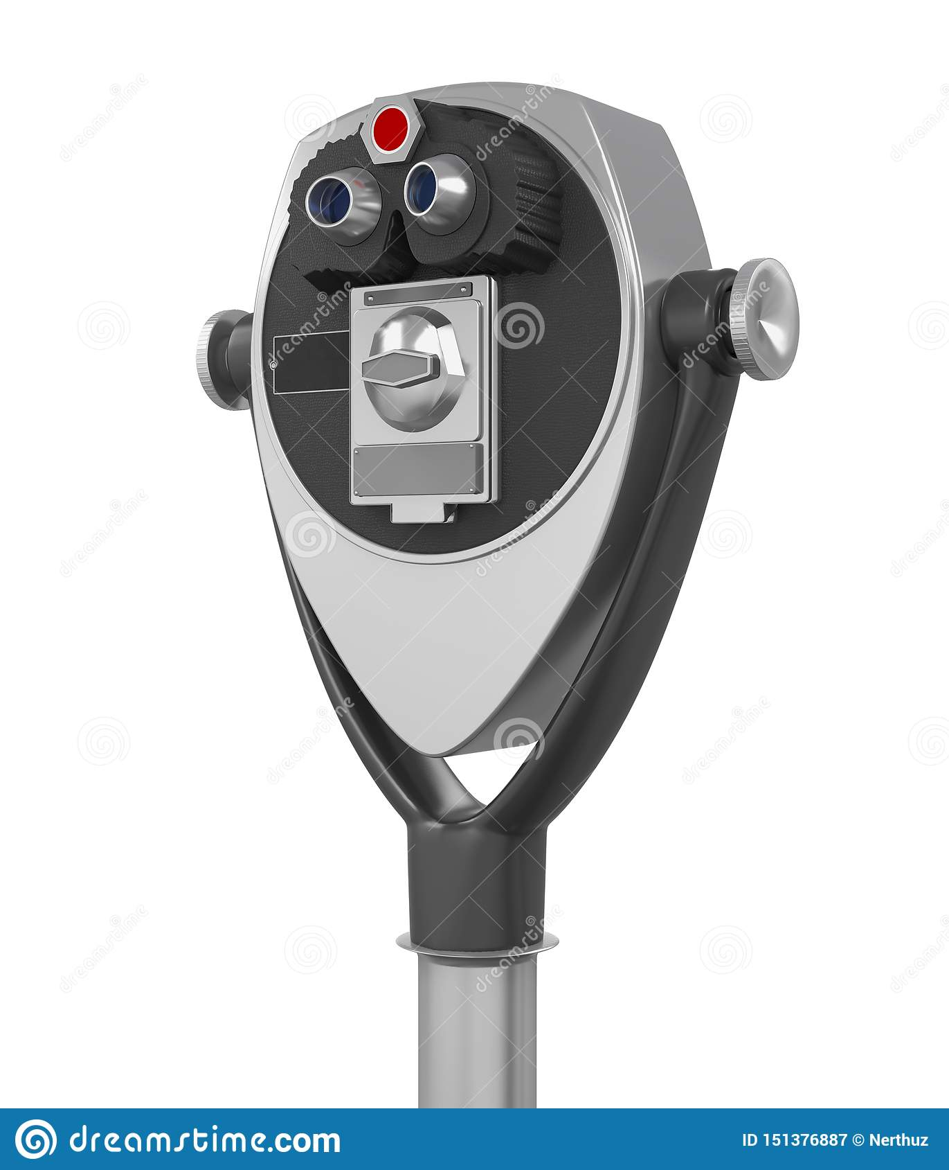 Tower Viewer Telescope Isolated Stock Illustration ...