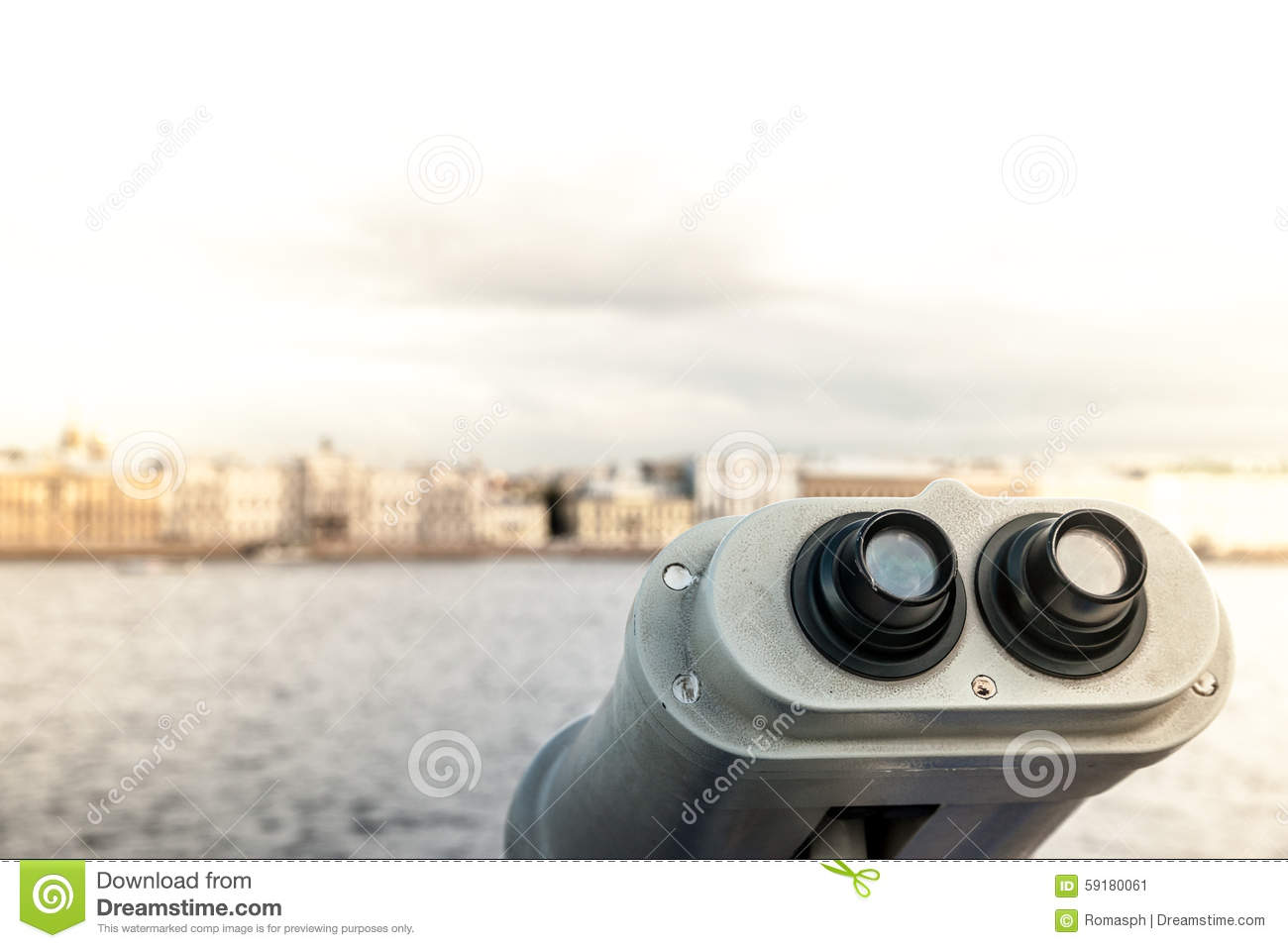 Tower viewer stock image. Image of optic, distance ...