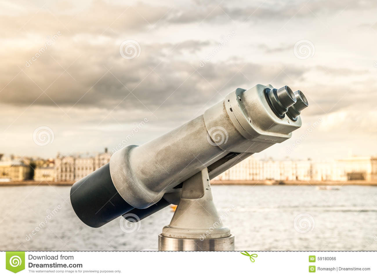 Tower viewer stock photo. Image of scope, monitoring ...
