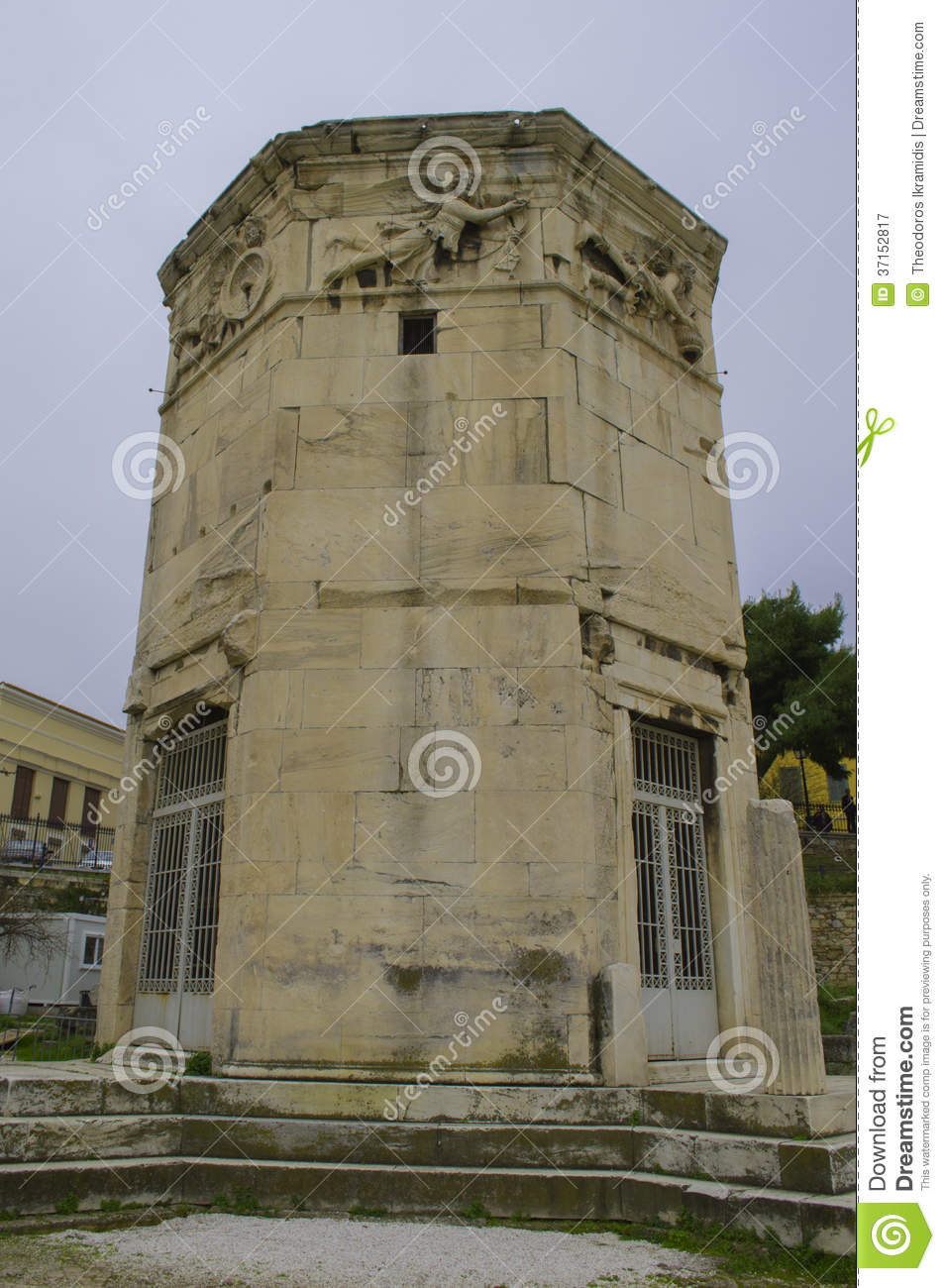 Tower Of The Winds Royalty Free Stock Photography - Image ...