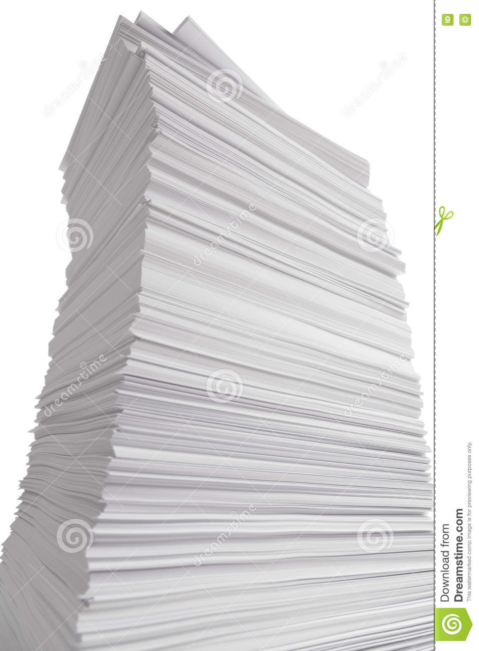 towering stack of paper stock image. image of document - 73345485