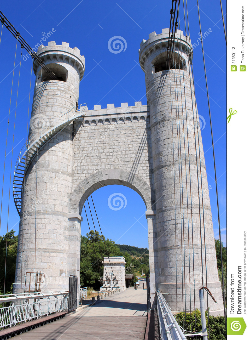 Towers of the bridge of the Caille, France