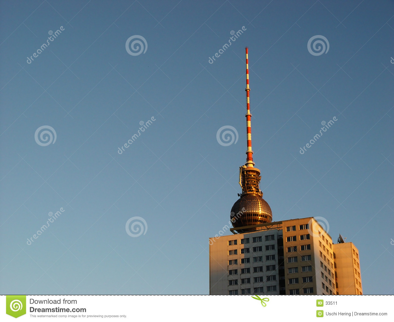 towers in morning light