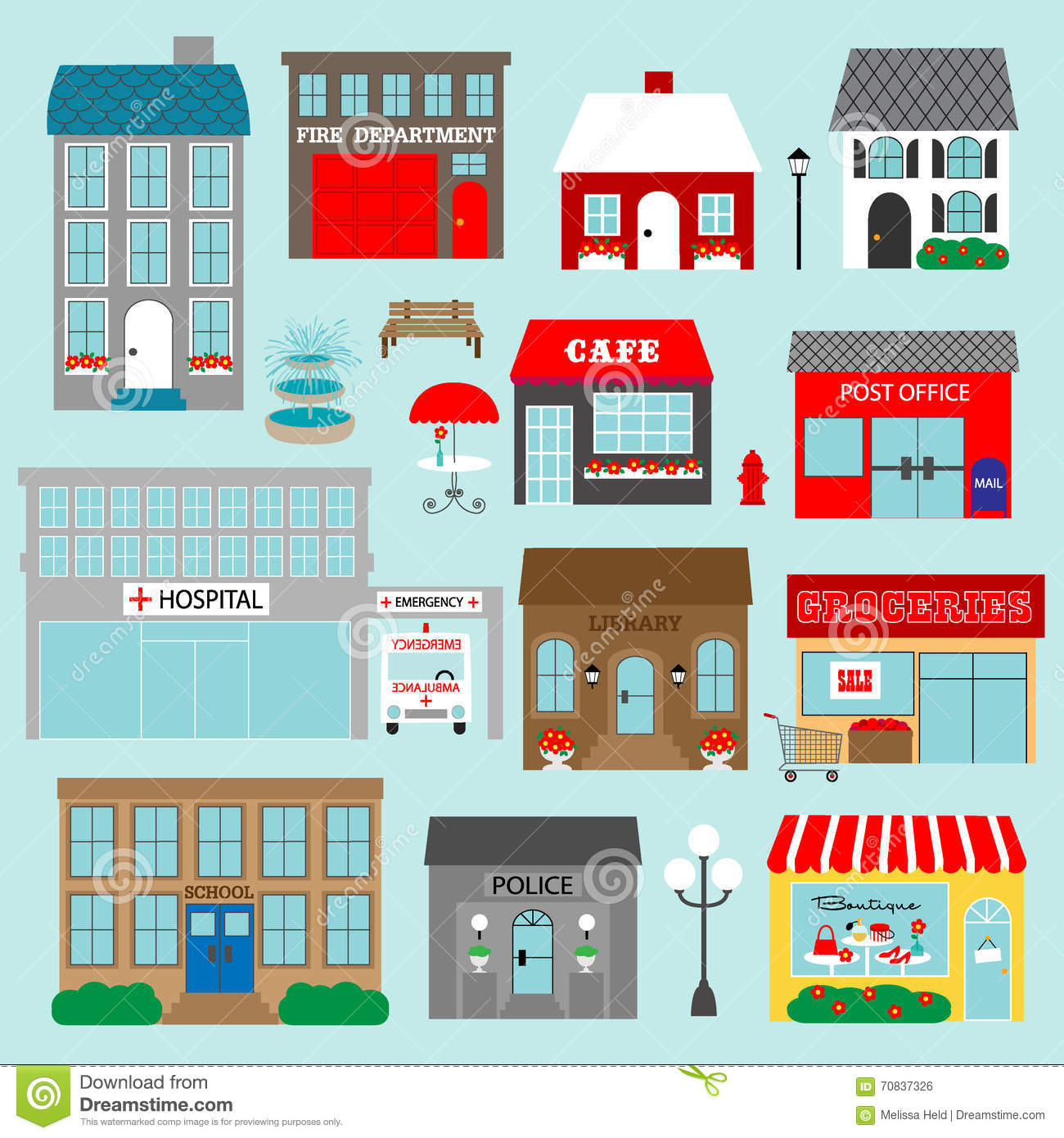 town buildings clipart illustration 70837326 megapixl rh megapixl com buildings clipart black and white building clip art free downloads