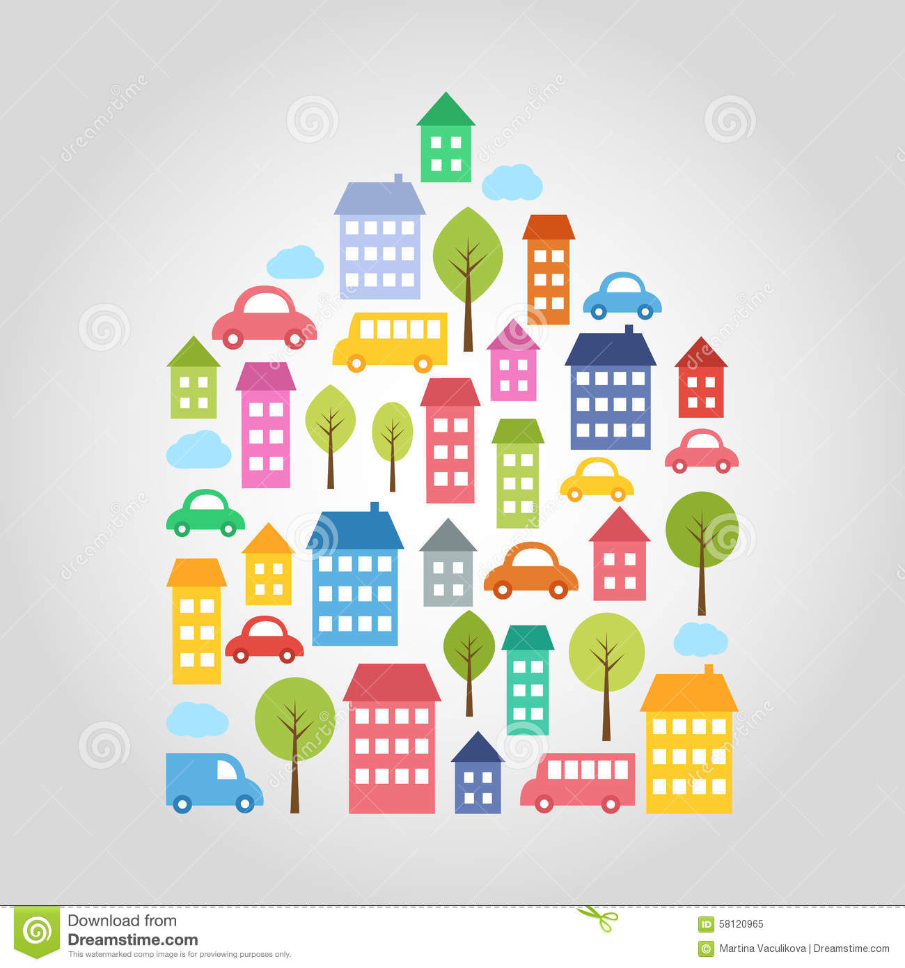 Town design elements stock vector image 58120965 - Home design elements ...