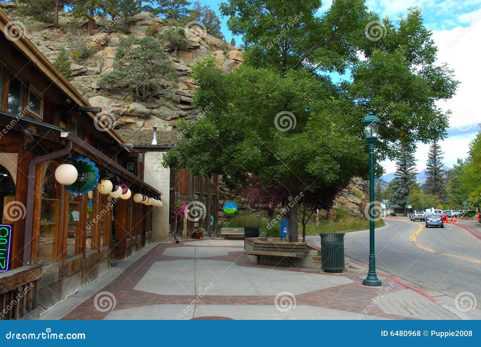 Town Of Estes Park Stock Photo Image Of Tundra Mountain