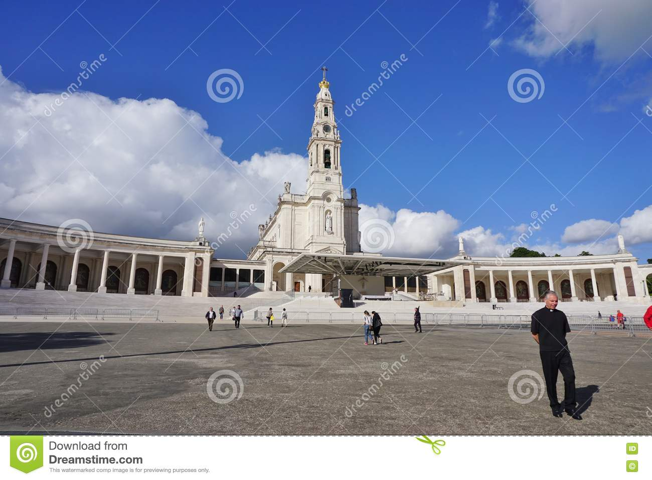 The Town Of Fatima In Central Portugal, Home To A Catholic