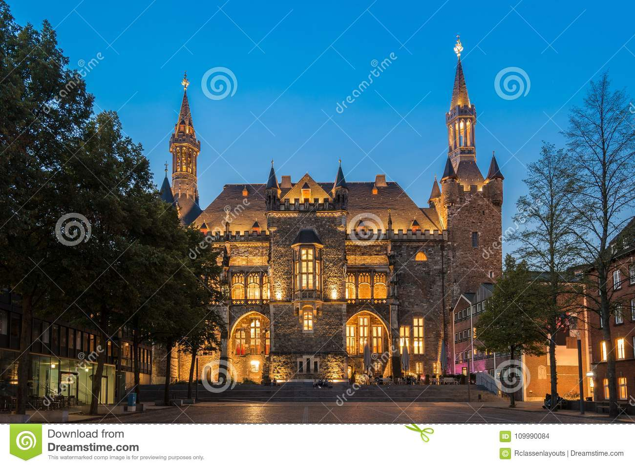 Town hall of aachen germany editorial stock image image of