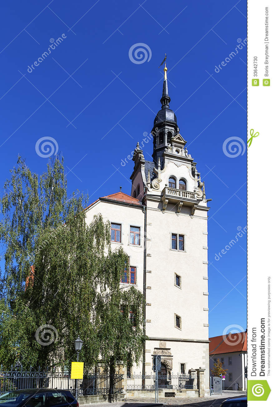 Bernburg Germany  city pictures gallery : Town Hall Of The City Of Bernburg, Germany Stock Photo Image ...