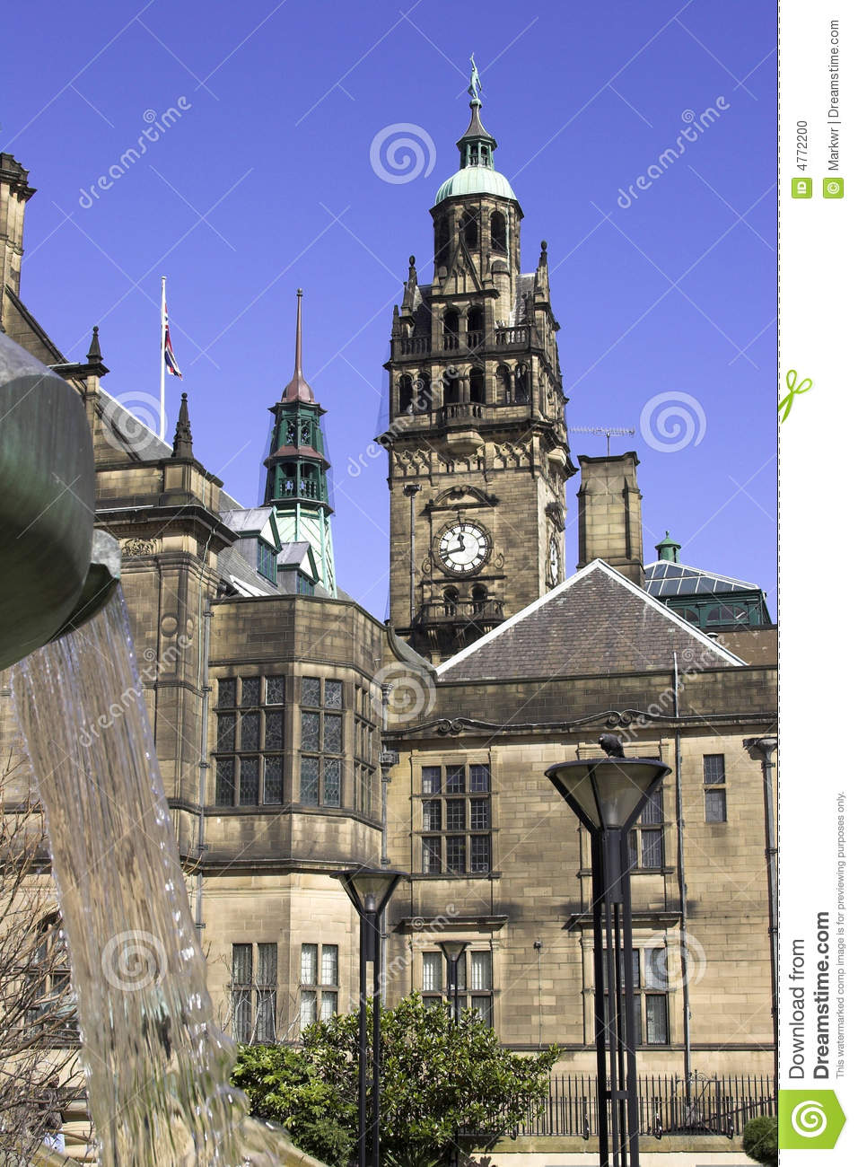 town hall sheffield england stock photo image 4772200. Black Bedroom Furniture Sets. Home Design Ideas
