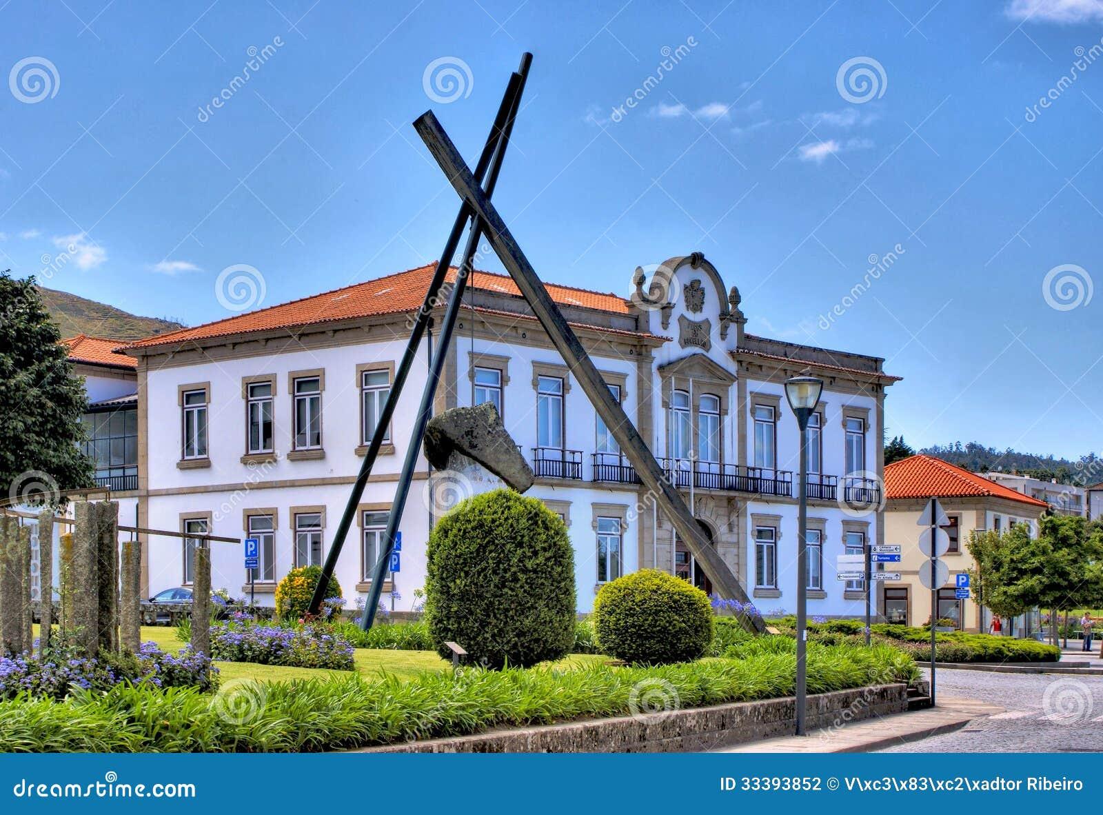 Town hall of vila nova de cerveira stock photography - Vilanova de cerveira ...