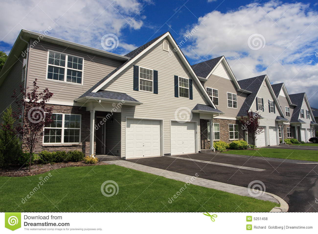 Town Houses Royalty Free Stock Photos Image 5251458