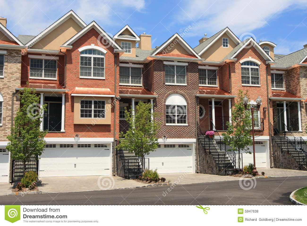 Town houses stock photo image of house background for Free house photos