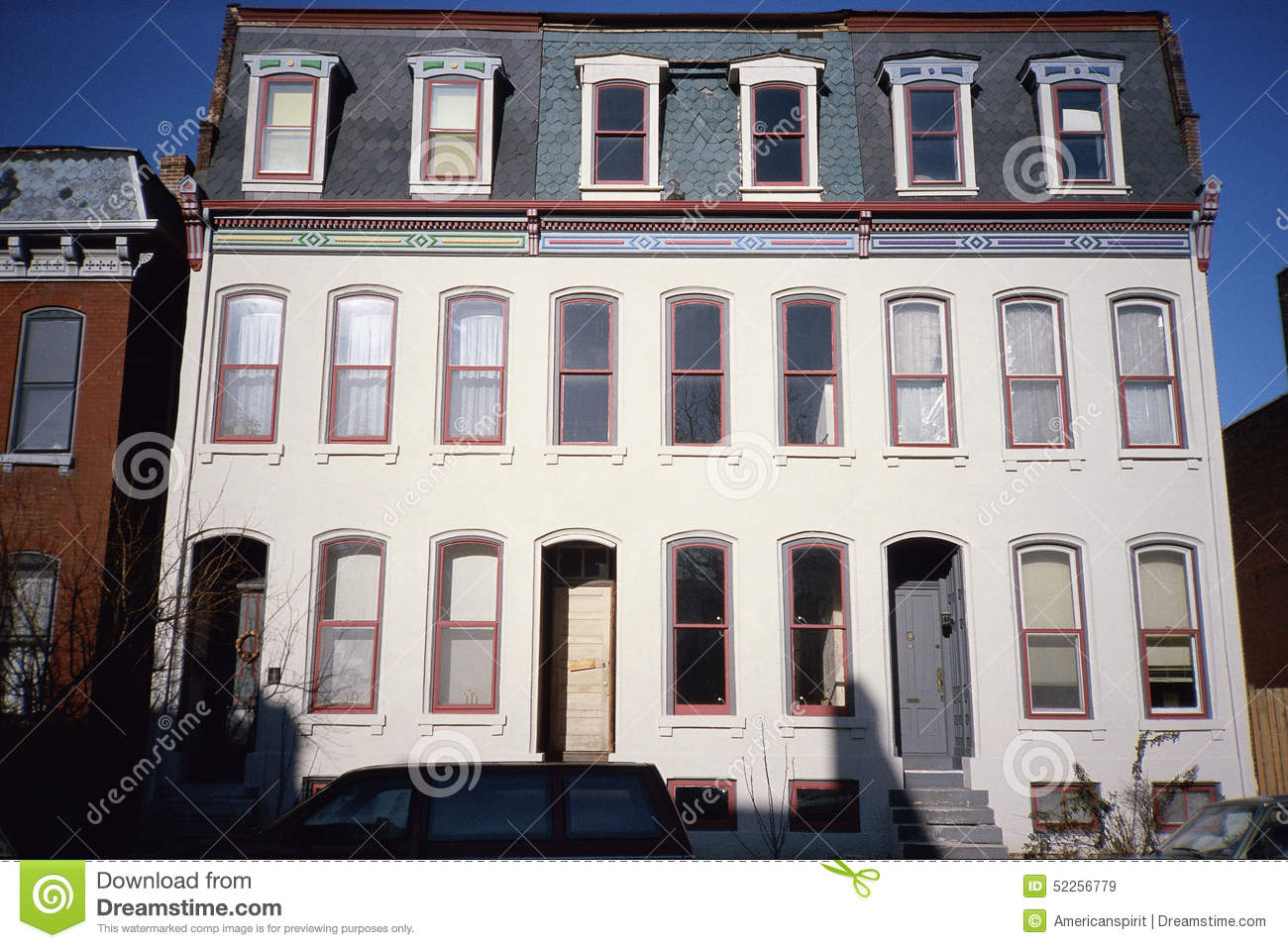 Town Houses In St Louis MO Stock Photo Image 52256779