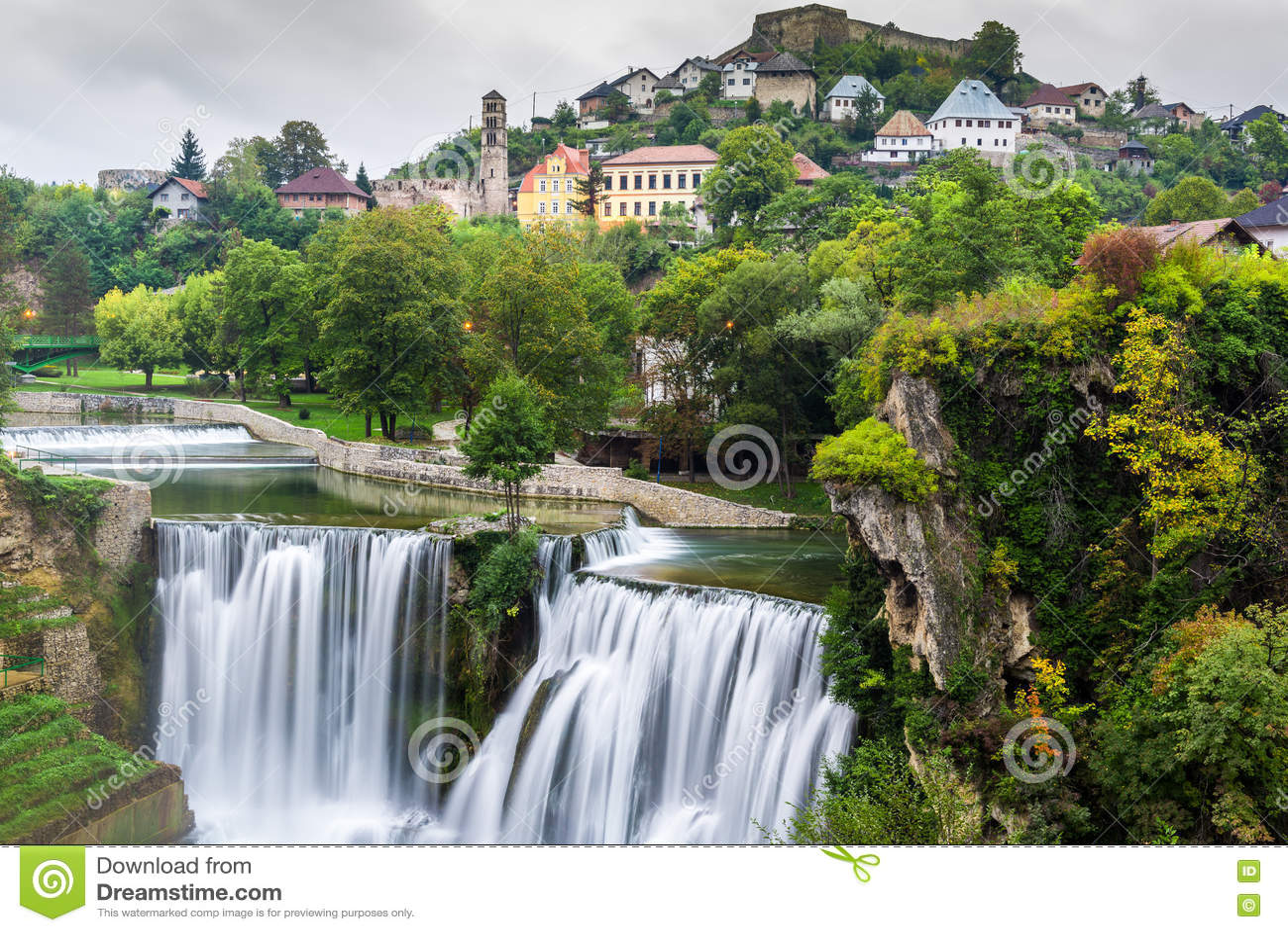 Town of Jajce and Pliva Waterfall (Bosnia and Herzegovina)