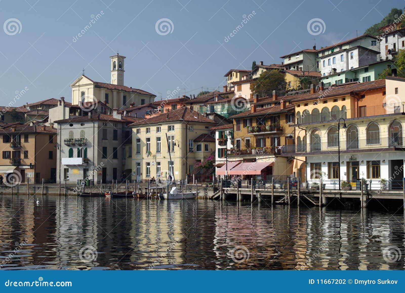 Town Of Peschiera, Iseo Lake, Italy Stock Photo - Image ...