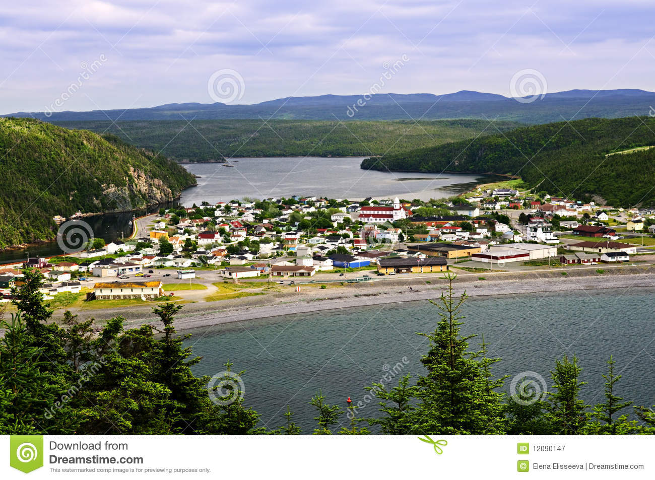 Town Of Placentia In Newfoundland Royalty Free Stock