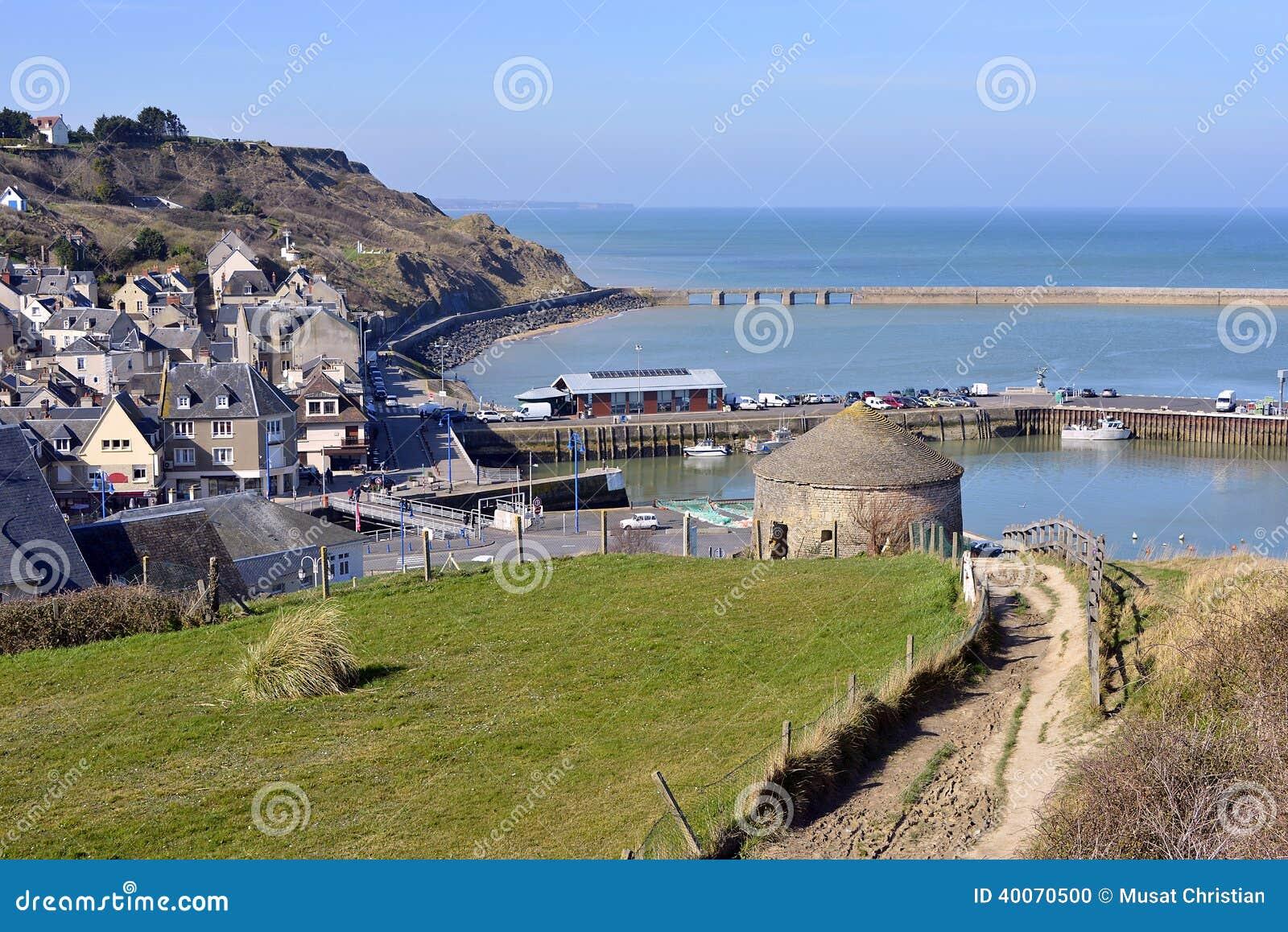 Town of port en bessin in france stock photo image 40070500 - Poissonnerie port en bessin ...