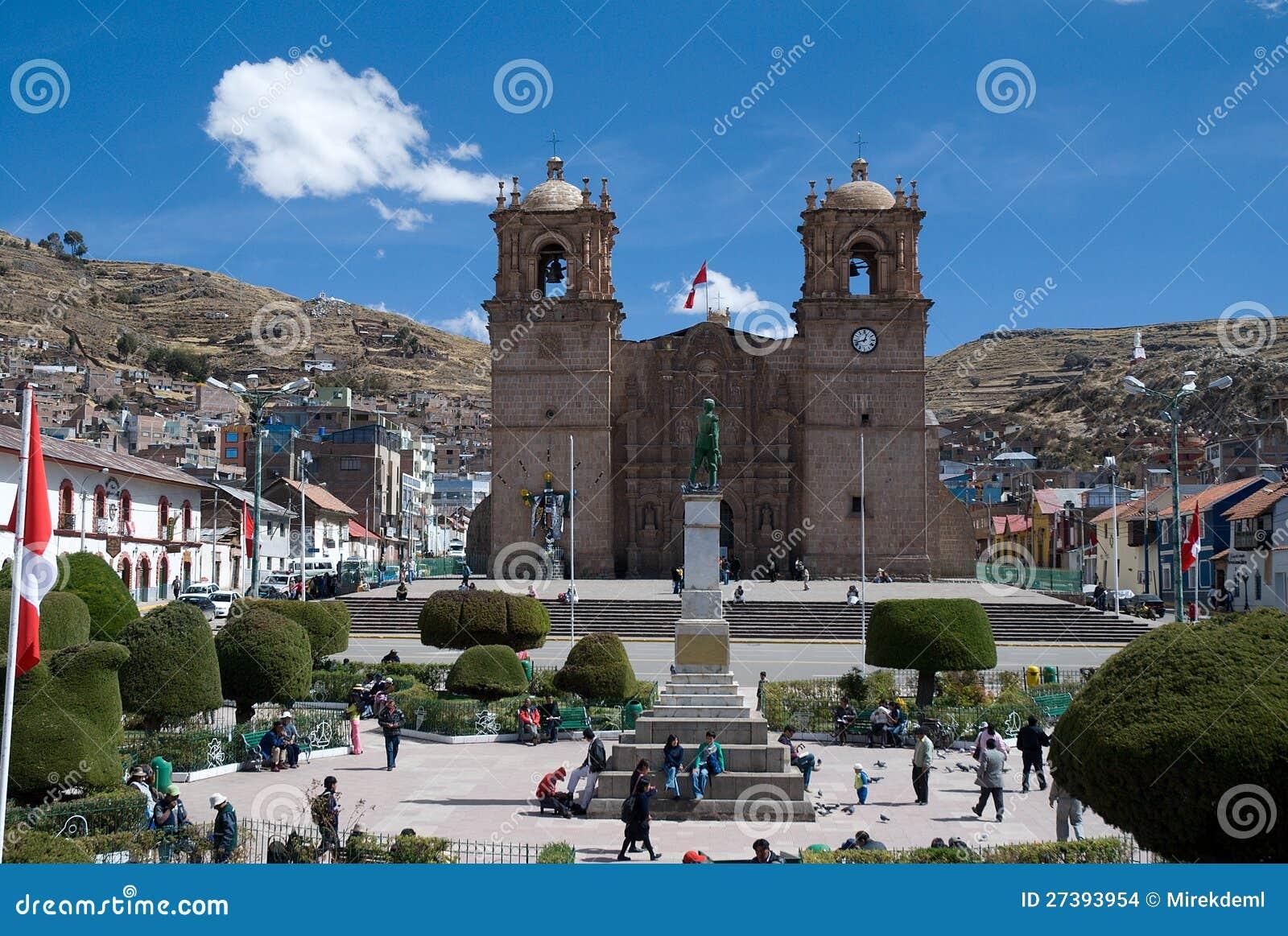 Town Puno, Peru