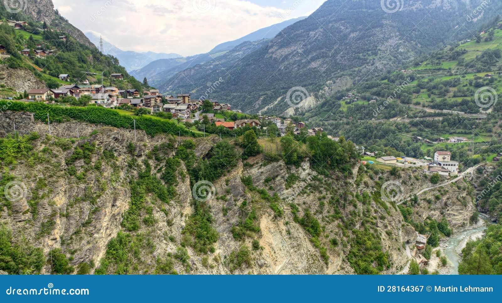 Town Stalden Saas, Valais, Switzerland Royalty Free Stock