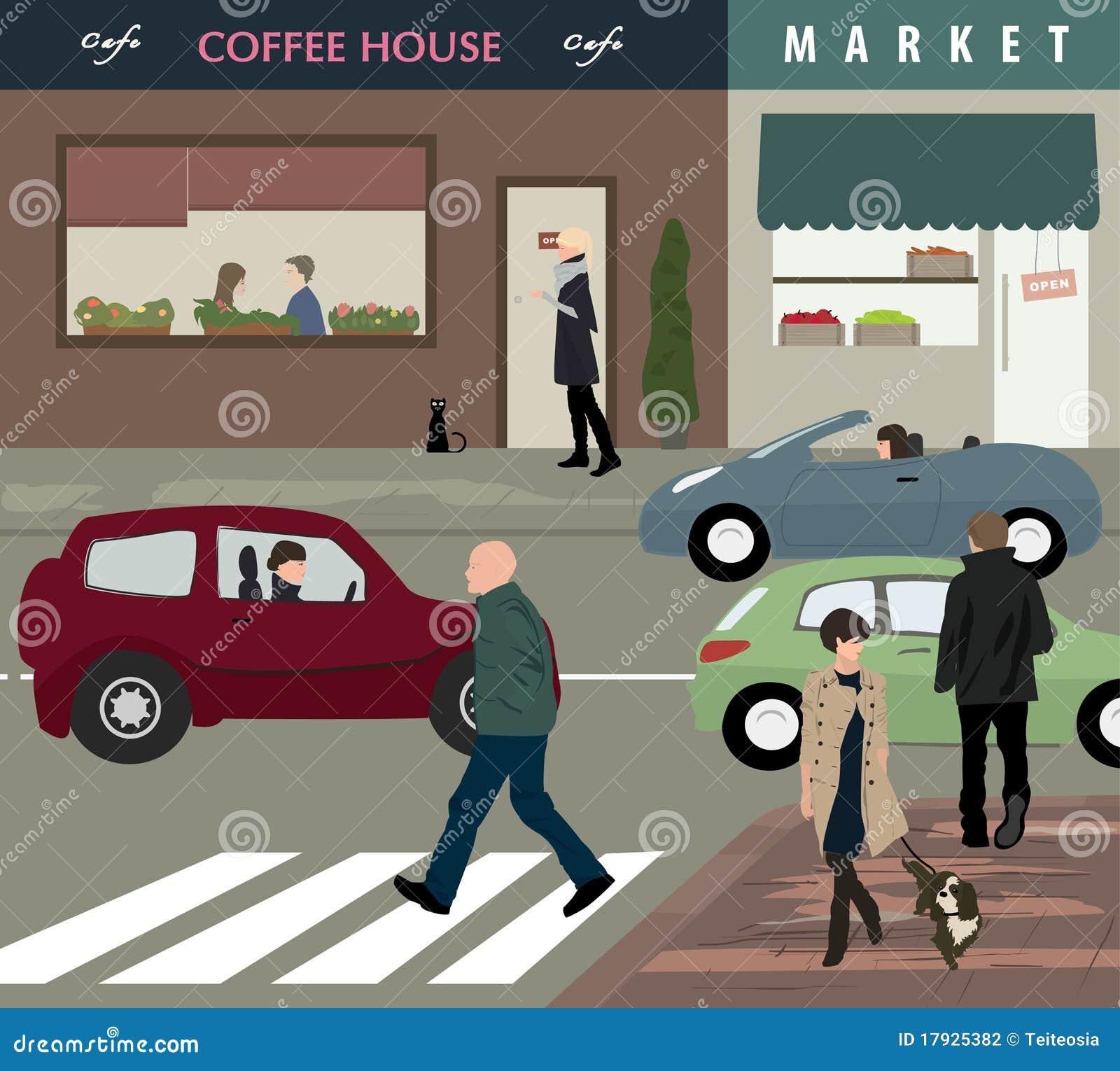 Town street life