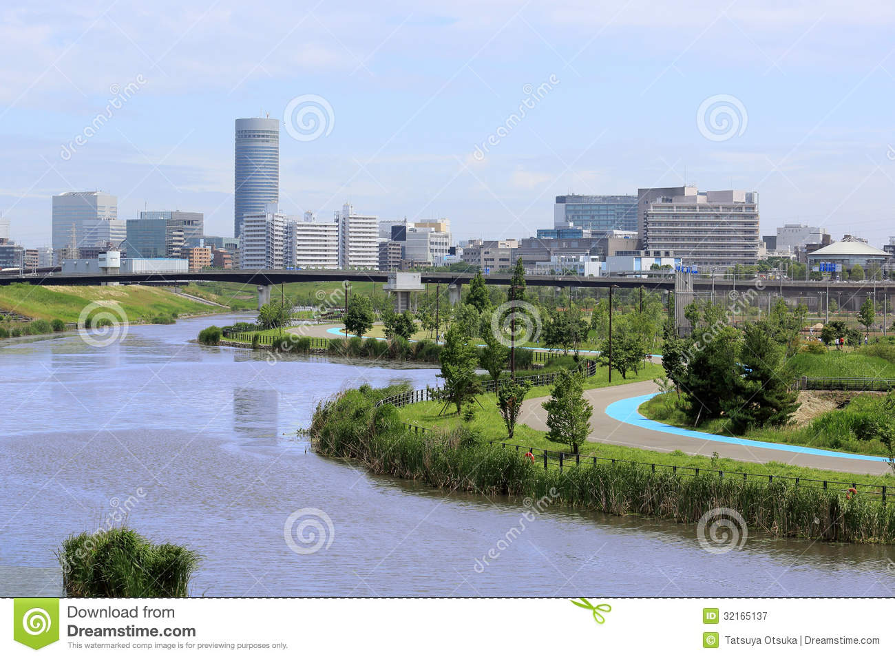 Town of the waterside royalty free stock photography for Park towne