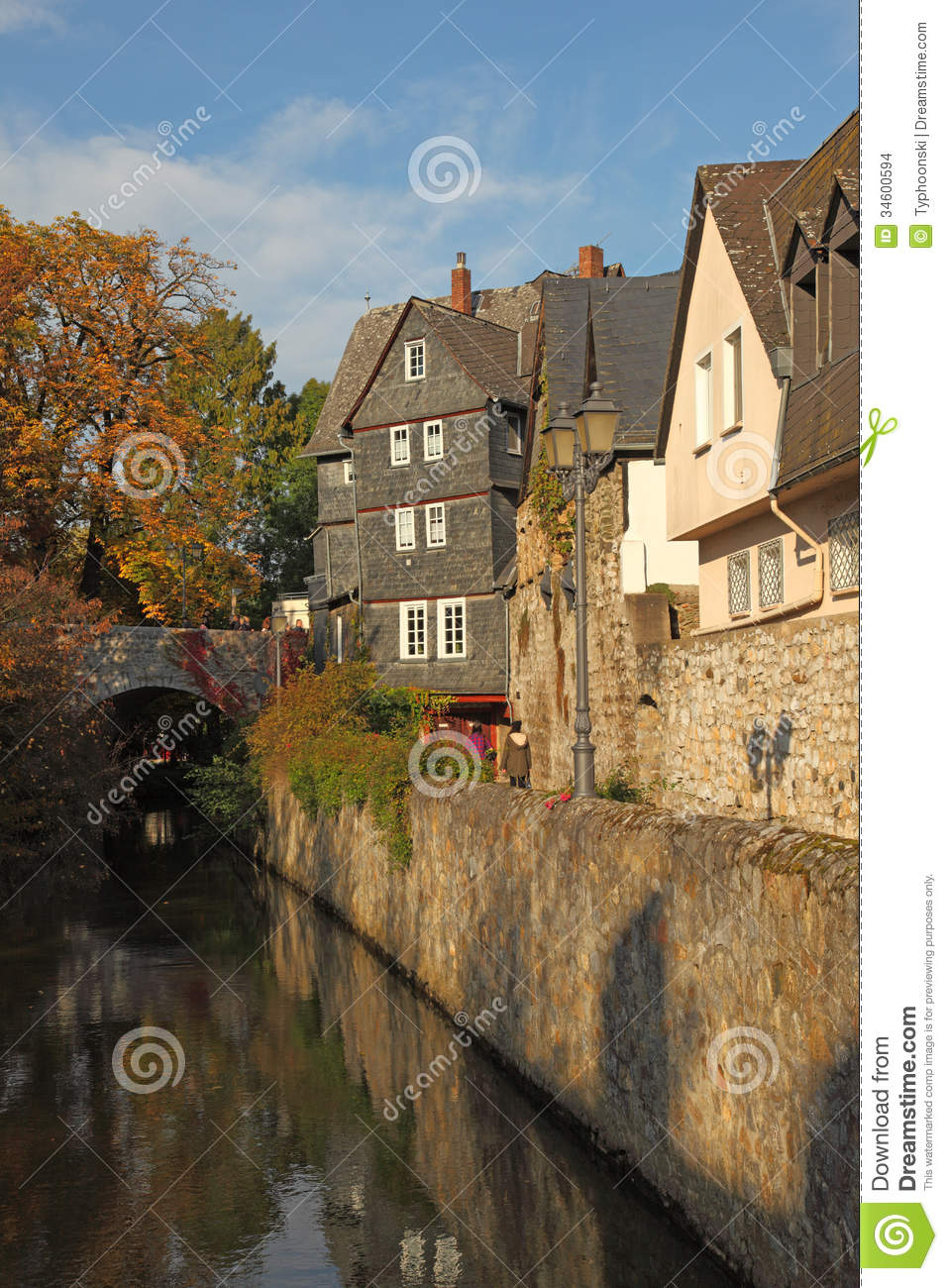 town wetzlar germany stock photo image of buildings 34600594. Black Bedroom Furniture Sets. Home Design Ideas