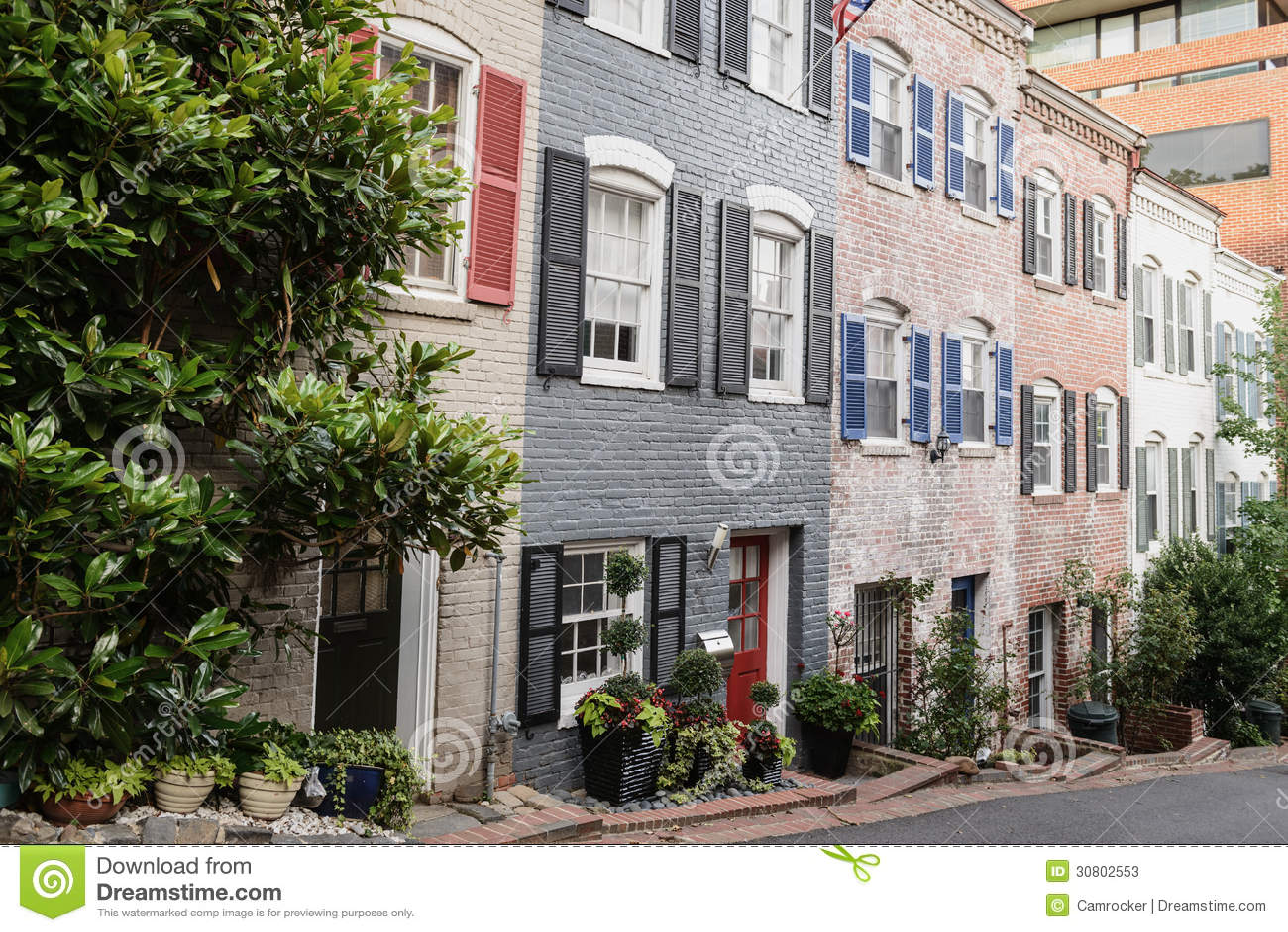 Townhouses στην Τζωρτζτάουν, Washington DC