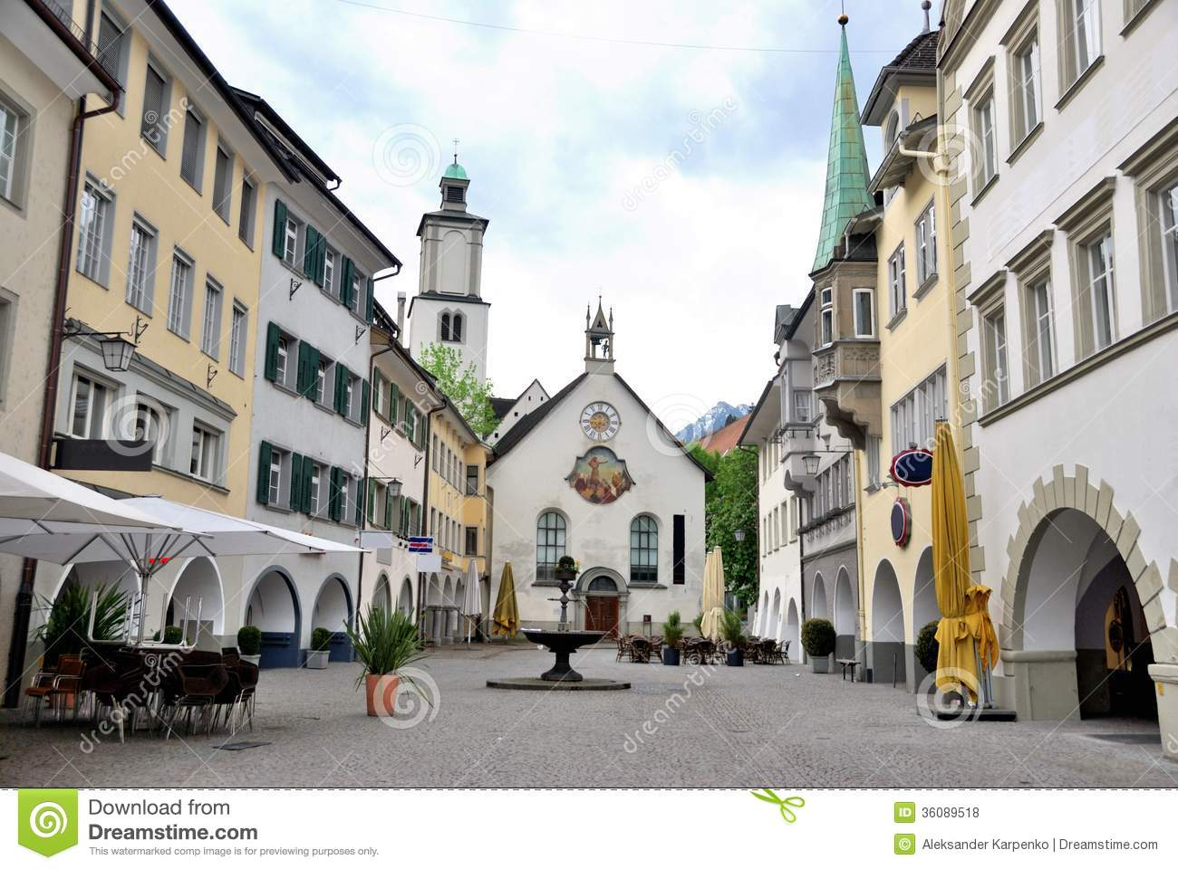 Townscape Of Feldkirch Royalty Free Stock Photos Image