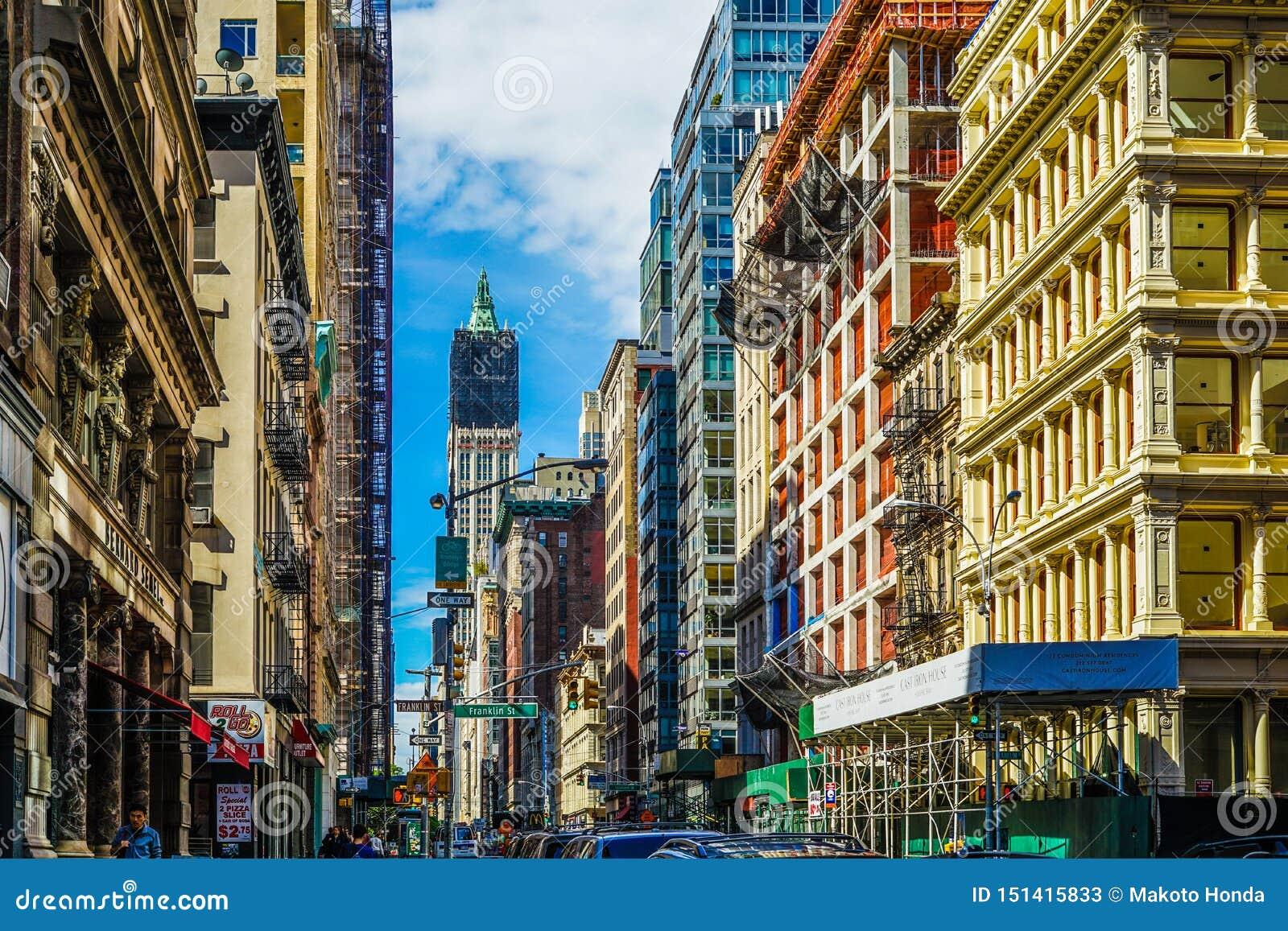 Townscape of Manhattan,New York