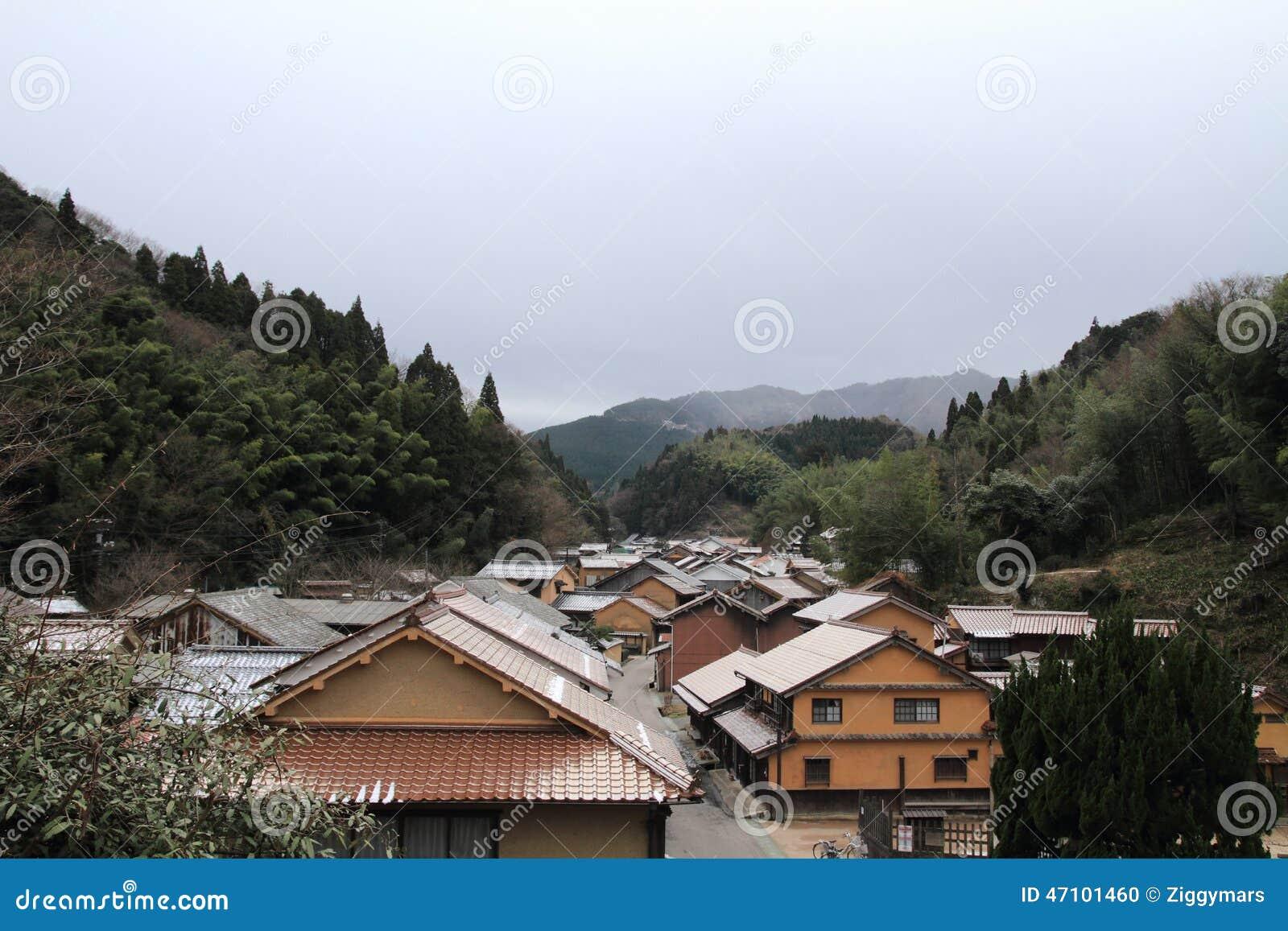 Townscape von Omori-Zone in ginzan Silberbergwerk Iwami (Welterbe)