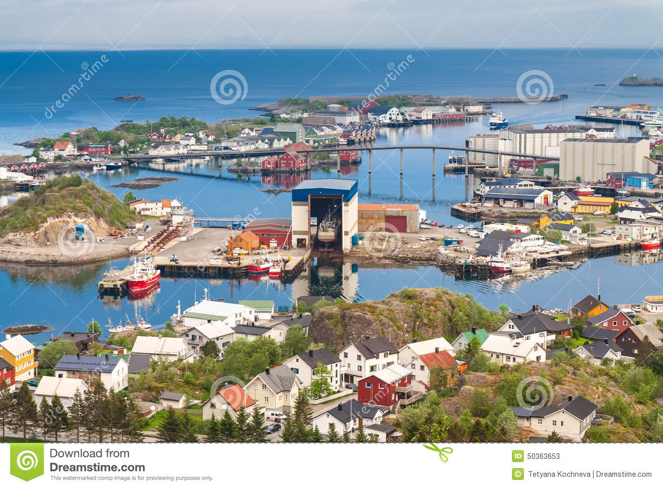 Svolvaer Norway  city photos gallery : Township Of Svolvaer Lofoten, Norway Stock Photo Image: 50363653