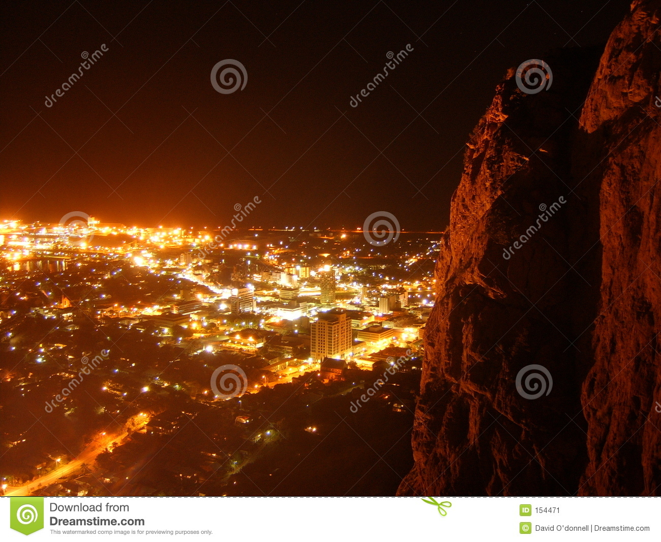 Townsville at night