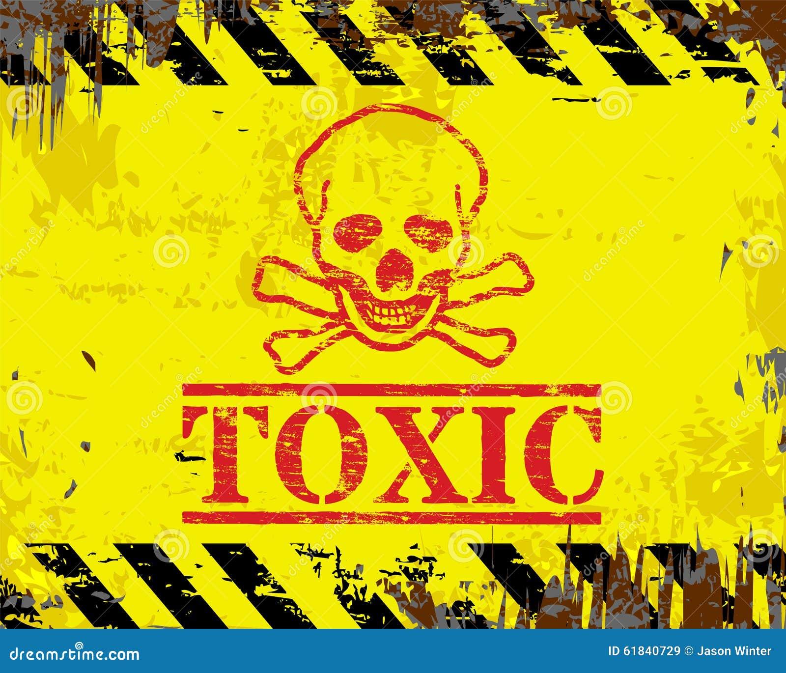 toxic sign and skulls - photo #4