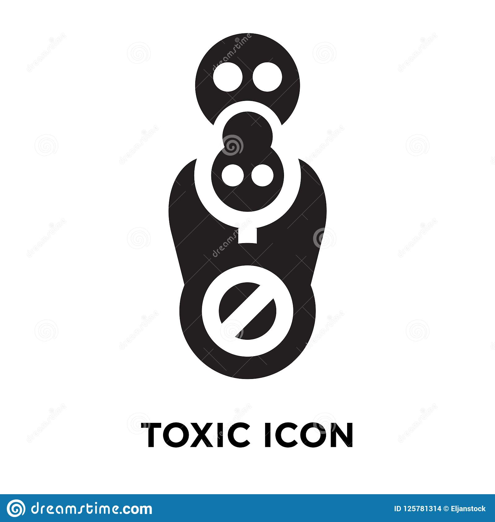 Toxic Icon Vector Isolated On White Background Logo Concept Of