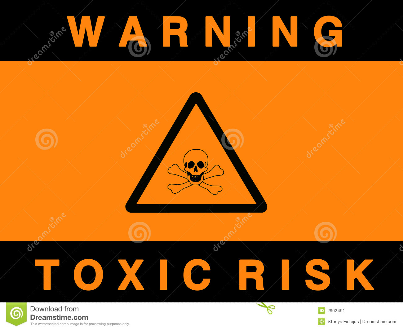 Toxic risk sign
