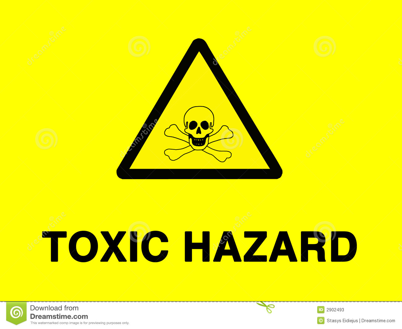 Toxic Risk Sign Stock Illustration  Illustration Of