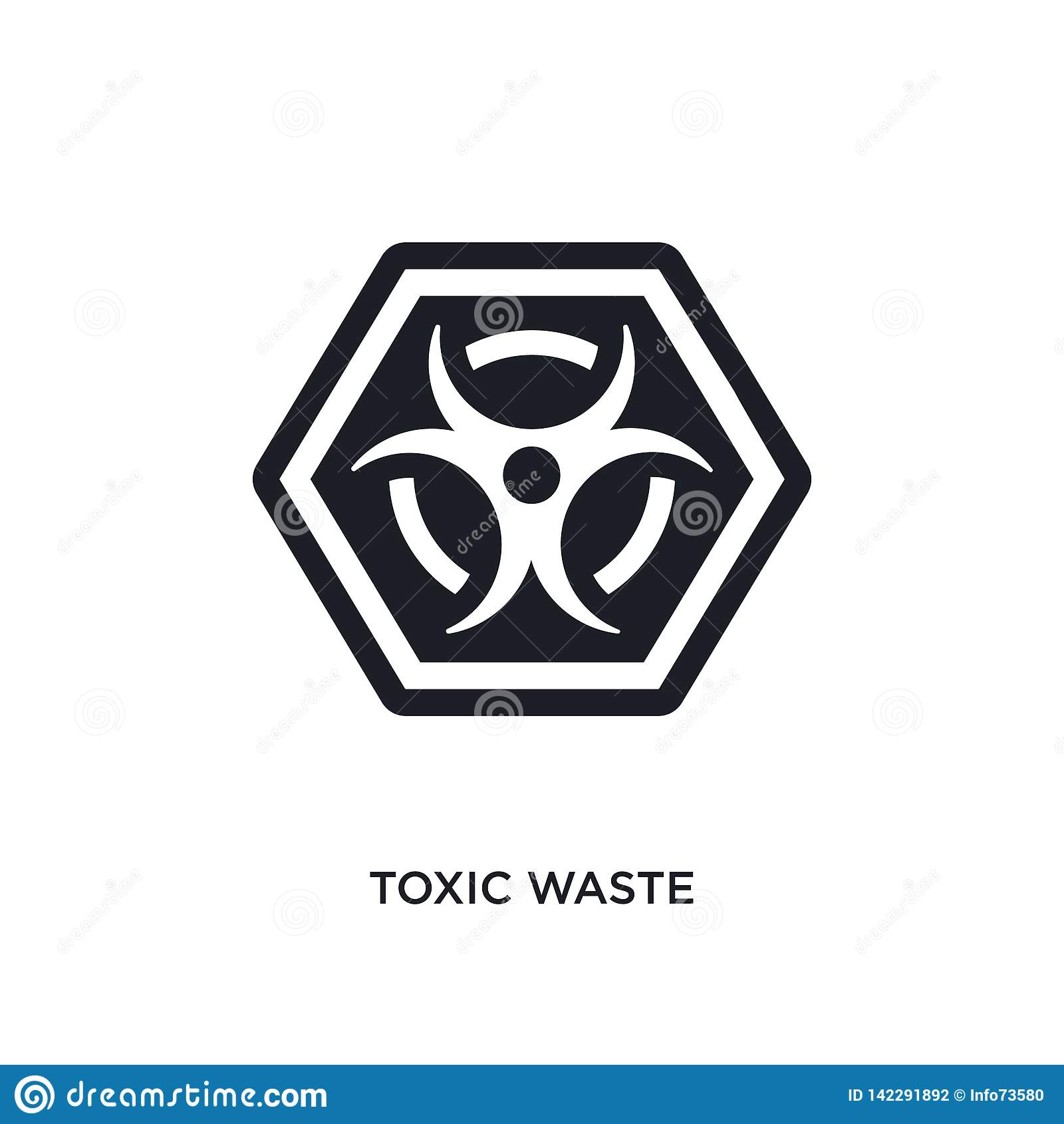 toxic waste isolated icon. simple element illustration from signs concept icons. toxic waste editable logo sign symbol design on