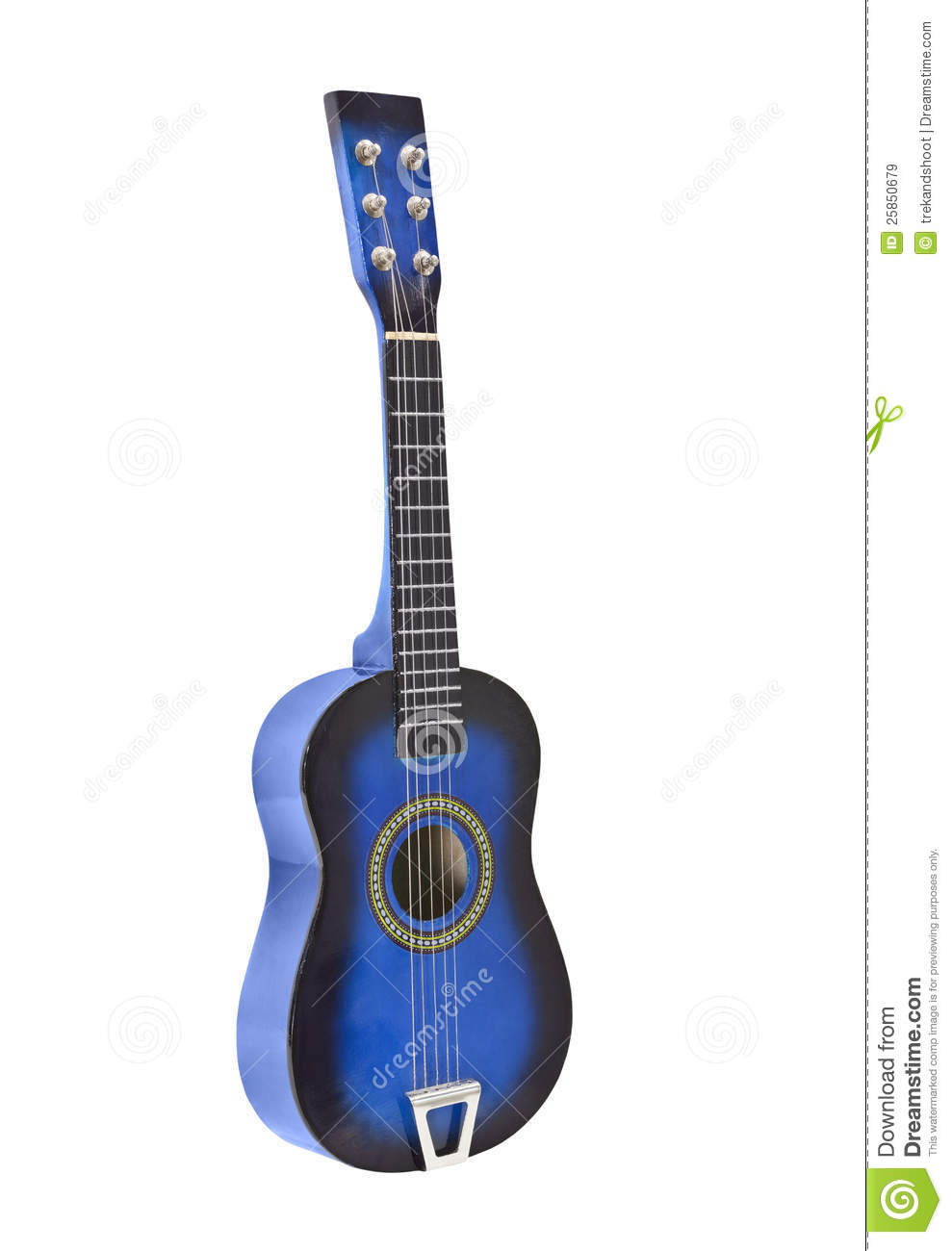 Toy Acoustic Guitar Isolated Royalty Free Stock Images